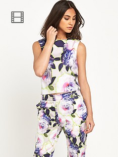 warehouse-neon-floral-top