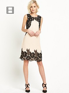 little-mistress-floral-applique-shift-dress