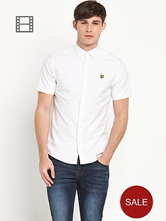 lyle-scott-mens-short-sleeve-oxford-shirt