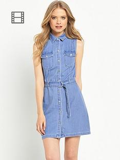 miss-selfridge-sleeveless-belt-dress