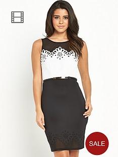 lipsy-mono-laser-cut-dress