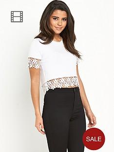 glamorous-crochet-trim-t-shirt