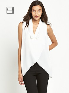tfnc-pat-white-sleeveless-drape-blouse