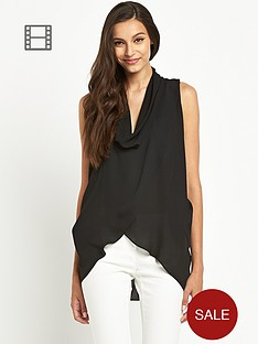 tfnc-pat-black-sleeveless-drape-blouse