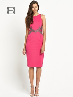 little-mistress-embellished-waist-bodycon-dress