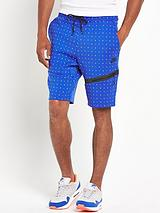 Mens Tech All Over Dot Fleece Shorts