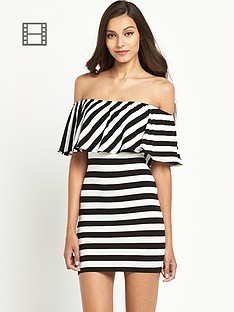 miss-selfridge-ruffle-bardot-dress