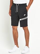Tech Mens All Over Dot Fleece Shorts