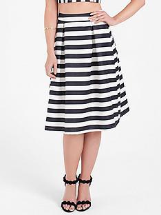 lauren-pope-stripe-monochrome-midi-skirt