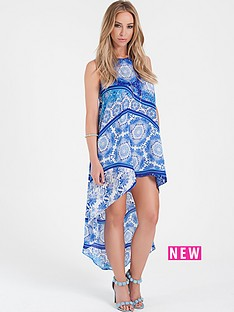 lauren-pope-paisley-dip-hem-dress