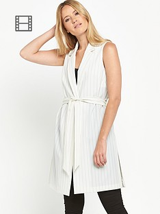 miss-selfridge-pinstripe-sleeveless-jacket