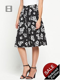 miss-selfridge-daisy-print-midi-skirt