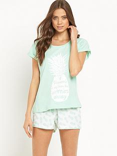 sorbet-pineapple-shorts-set