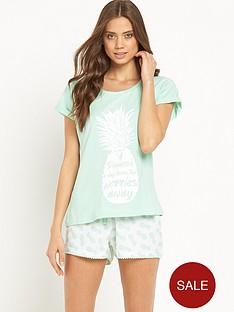 sorbet-pineapple-shorts-set