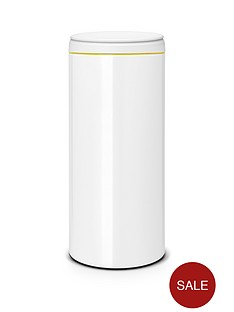 brabantia-30-litre-flip-bin-with-light-grey-plastic-lid