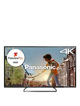 Viera TX-55CX680B 55 inch 4K Ultra HD Freeview HD with Freeview Play LED Smart TV, Built-In Wi-Fi - Black