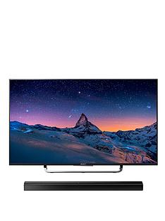 sony-kd43x8305cbu-43-inch-smart-4k-uhd-freeview-hd-led-android-tv-with-ht-ct80-bluetooth-soundbar