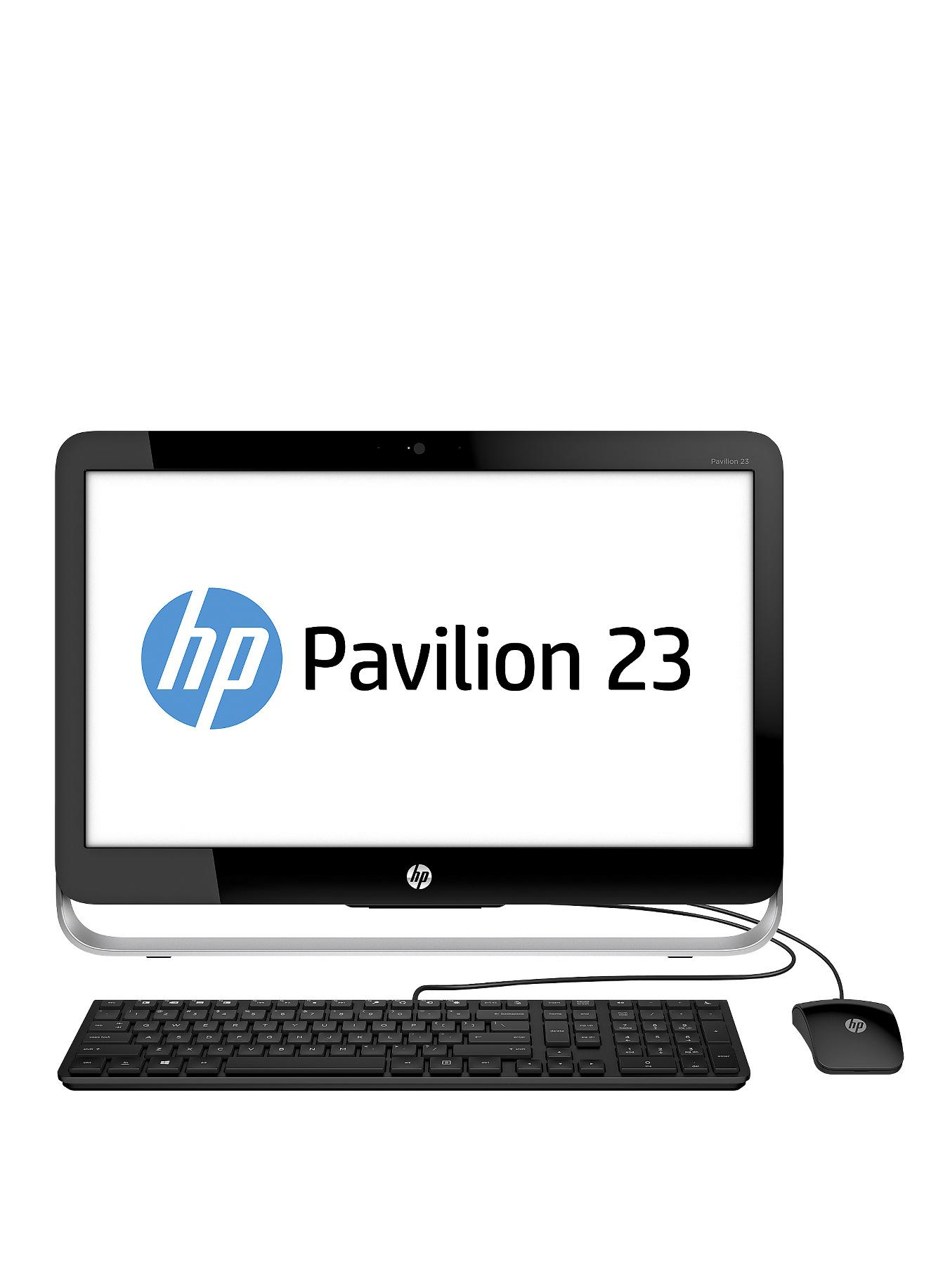 HP Pavilion 23-g350na Intel Core i5 Processor, 8Gb RAM, 1Tb Hard Drive, Wi-Fi, 23 inch All In One Desktop with Optional Microsoft Office 365 Personal - Black