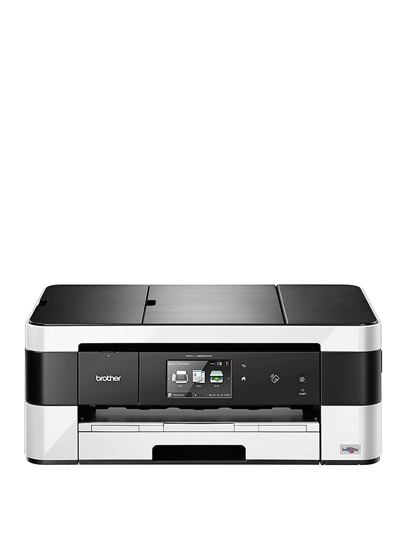 Brother MFC-J4625DW Inkjet AIO with Fax and A3 Print - Black White