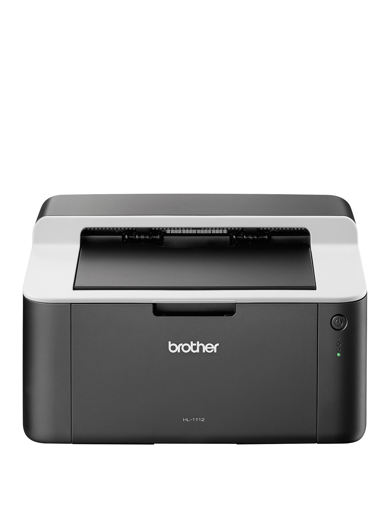 Brother HL-1112 A4 Mono USB Laser Printer 20PPM 1 Tray - Black White