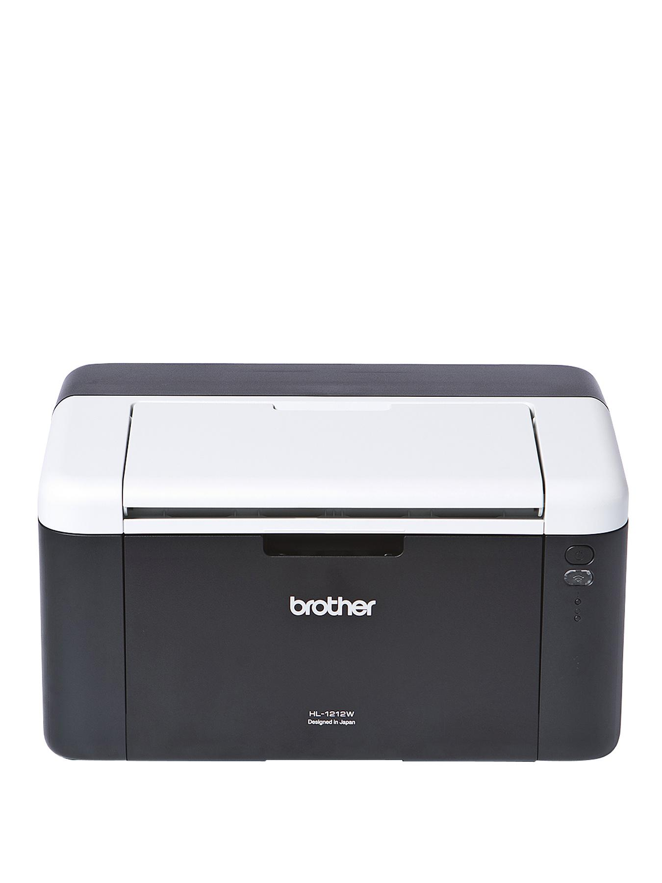 Brother HL-1212W Compact Mono Laser Printer with Wi-Fi - Black White