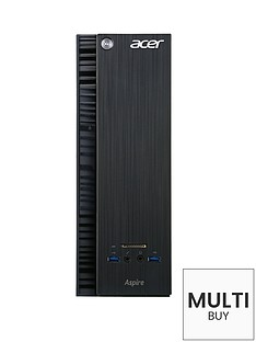 acer-aspire-xc-705-intelreg-coretrade-i5-processor-10gb-ram-2tb-storage-nvidia-gt-705-1gb-dedicated-graphics-desktop-base-unit-with-optional-microsoft-office-365-personal-black