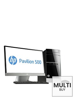 hp-pavilion-500-516nam-amd-a10-processor-16gb-ram-2tb-storage-amd-radeon-r7-240-ddr3-2gb-dedicated-graphics-23in-monitor-desktop-bundle-with-optional-microsoft-office-365-personal-black