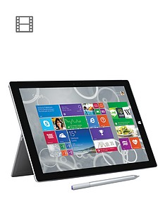 microsoft-surface-pro-3-intelreg-coretrade-i5-processor-4gb-ram-128gb-solid-state-drive-wi-fi-12-inch-tablet-and-optional-microsoft-office-personal-and-black-type-cover-grey