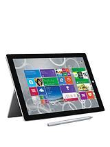 Surface Pro 3 Intel® Core™ i7 Processor, 8Gb RAM, 512Gb Solid State Drive, Wi-Fi, 12 inch Tablet and Optional Microsoft Office Personal and Black Type Cover - Grey