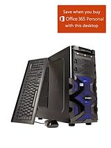 Intel® Core™ i5 Processor, 8Gb RAM, 1Tb Storage, Nvidia GeForce GTX 750 1Gb Dedicated Graphics, Wi-Fi, Desktop Base Unit with Optional Microsoft Office 365 Home Personal - Black