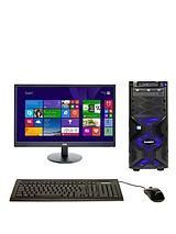 Intel® Core™ i5 Processor, 8Gb RAM, 2Tb Storage, Nvidia GeForce GTX 960 2Gb Dedicated Graphics, Wi-Fi, 23.6 inch Monitor, Desktop Bundle - Black