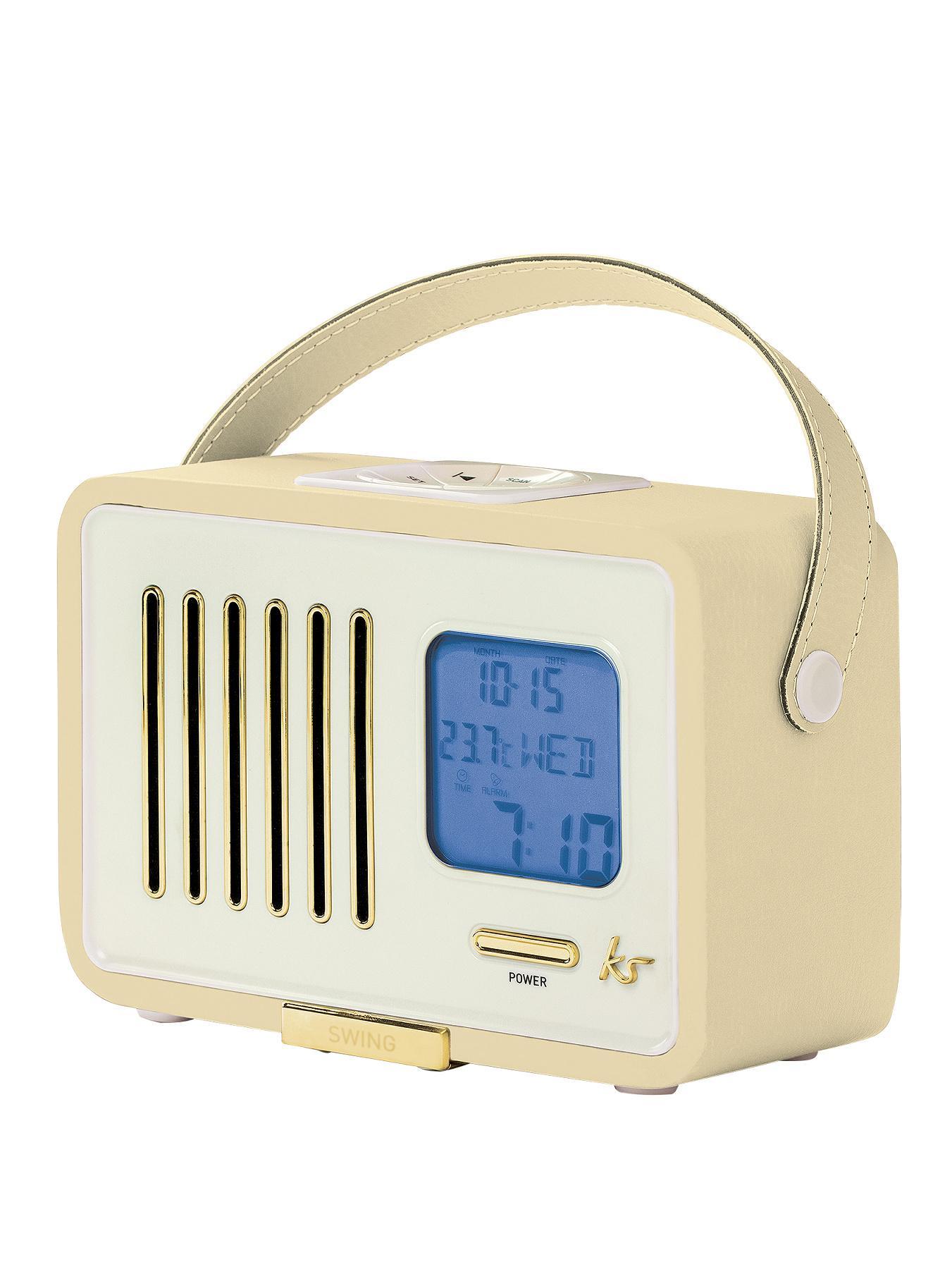 Kitsound Swing FM Radio with Alarm Clock