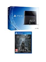 Console with Bloodborne and Optional 12 Months Playstation Plus or DualShock 4 Controller