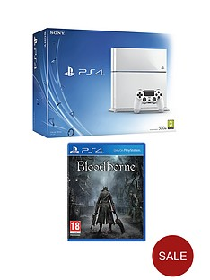 playstation-4-500gb-white-console-with-free-bloodborne