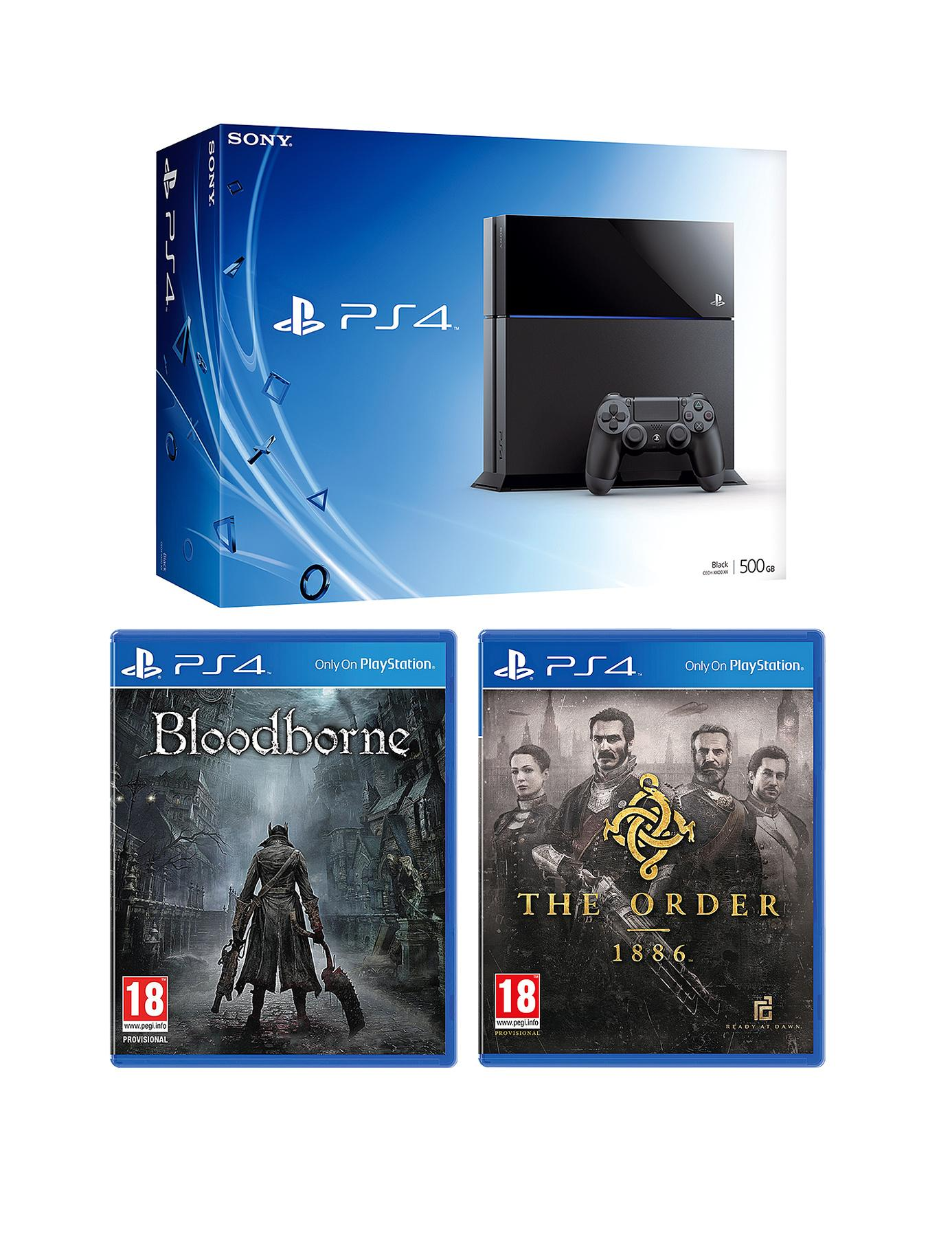 Playstation 4 Console with The Order: 1886, Bloodborne and Optional 12 Months Playstation Plus or DualShock 4 Controller