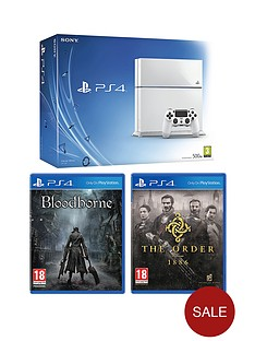 playstation-4-500gb-white-console-bloodborne-free-the-order-1886-driveclub