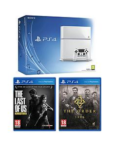 playstation-4-500gb-white-console-the-last-of-us-remastered-the-order-1886