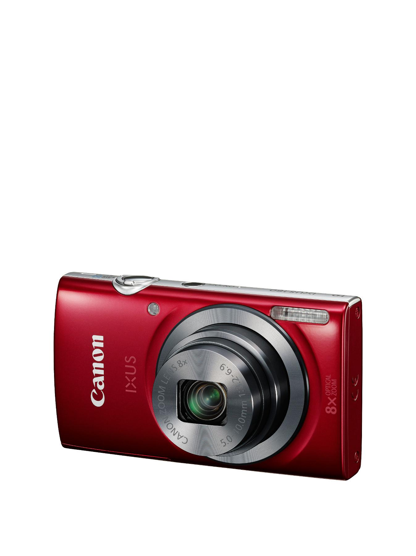 Canon IXUS 160 20MP 8xZoom 2.7 LCD 720pHD 28 mm Wide Camera - Red