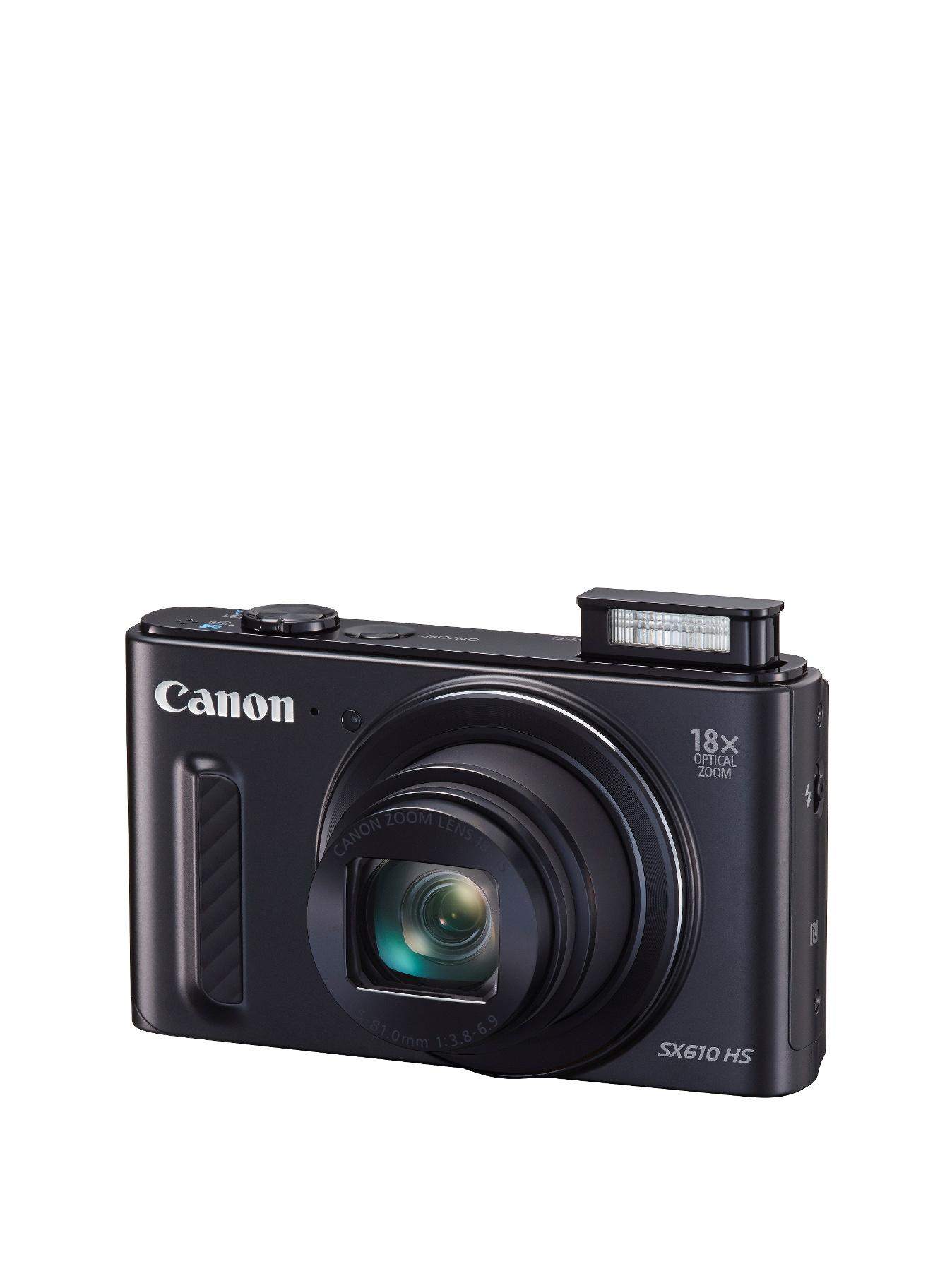 Canon PowerShot SX610 HS 20.2MP 18xZoom 3.0 LCD FHD 25 mm Wide WiFi Camera - Black