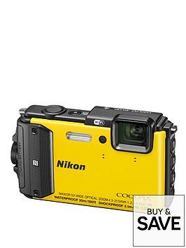 nikon-coolpix-aw130-16-megapixel-digital-camera-yellow
