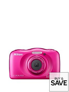 nikon-coolpix-s33-13-megapixel-digital-camera-with-backpack-kit-pink