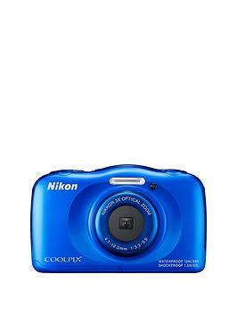 nikon-coolpix-s33-13-megapixel-digital-camera-with-backpack-kit-blue