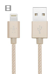 belkin-12-m-lightning-to-usb-braided-tangle-free-cable-with-aluminium-connectors-for-ipad-ipod-iphone-5-5s-5c-6-and-6-plus-7and-7-plus--gold-mfi-approved