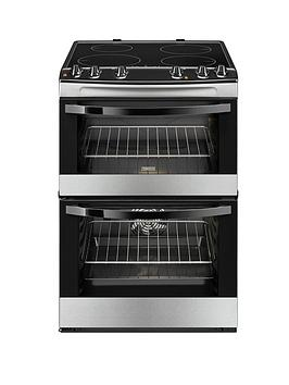 zanussi-zcv68010ba-60cm-electric-freestanding-double-oven-black