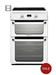 hotpoint-ultima-hui612p-60cm-double-oven-electric-cooker-with-induction-hob-white
