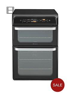 hotpoint-hui62tk-60cm-double-oven-electric-cooker-with-induction-hob
