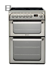 hotpoint-hui611x-60-cm-double-oven-electric-cooker-with-induction-hob