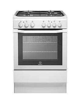 indesit-i6gg1w-60cm-single-oven-gas-cooker-with-fsd-white