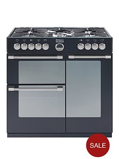 stoves-richmond-900dft-90cm-dual-fuel-range-cooker-black