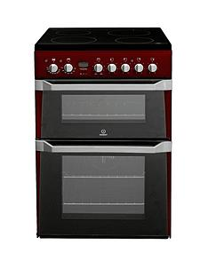 indesit-id60c2r-60cm-electric-cooker-double-oven-with-ceramic-hob-red